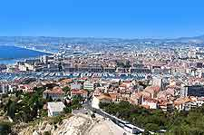 Image of Marseille's historical Vieux Port district