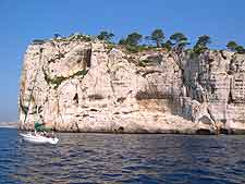 View of Calanque from the water