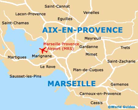 Small Aix en Provence Map