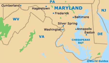 Baltimore MD Chads Homepage Maryland Map Geography Of Maryland - Maryland on us map