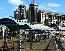 Close-up image of the Caudan Waterfront at Port Louis