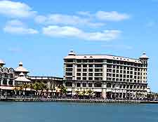 Sunny image of the Caudan Waterfront in Port Louis