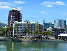 Different view of the Caudan Waterfront in Port Louis