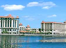 Picture of the famous Caudan Waterfront at Port Louis
