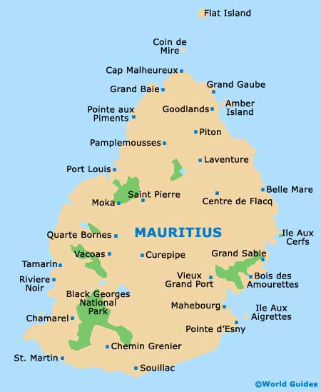 Mauritius Maps And Orientation Mauritius Africa - Mauritius map in world map