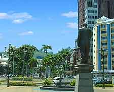 Photo of statue in Port Louis, next to the waterfront