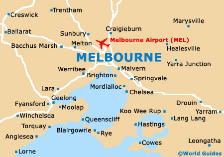 Melbourne On Australian Map.Melbourne Maps And Orientation Melbourne Victoria Vic