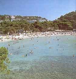 View of Menorcan beach
