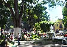 Picture of stone fountain in Alameda Central