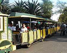 Picture off tourist train in Mexico City