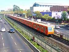 Photo showing metro train
