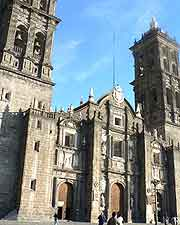 Puebla cathedral photograph