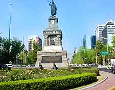 Photo of the popular Paseo Reforma district