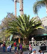 Picture of the Six Flags theme park