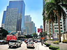 Photo featuring Brickell Avenue in Downtown Miami