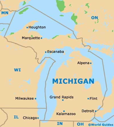 detroit in map of usa Detroit Maps And Orientation Detroit Michigan Mi Usa detroit in map of usa