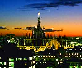 Picture over Milan at night