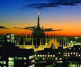 Milan nightime view
