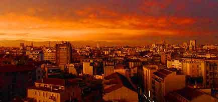 Sunset over Milan image