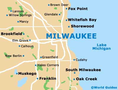 Milwaukee Maps and Orientation: Milwaukee, Wisconsin - WI, USA
