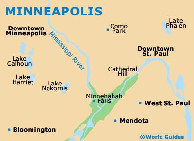 Minneapolis Maps and Orientation: Minneapolis, Minnesota - MN, USA