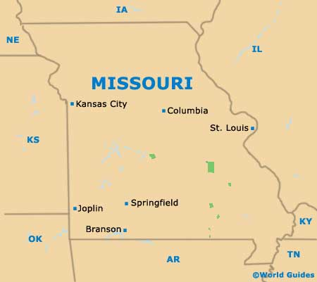 Jefferson City Maps And Orientation Jefferson City Missouri USA - Missouri in usa map