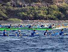 Picture of the island's exciting Hoe Canal Race