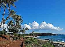 View of the popular Kepuhi Beach