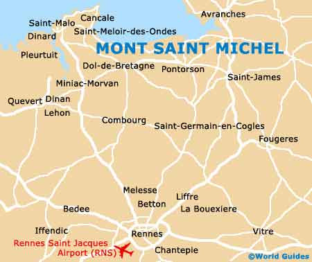 Small Mont Saint Michel Map