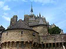 Further view of Mont Saint Michel Abbey (Abbaye)