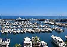 Image of the marina and yachts