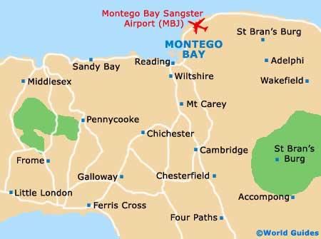 Montego bay maps and orientation montego bay st james cornwall montego bay map sciox Images