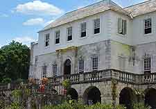 Close-up picture of the Rose Hall Great House