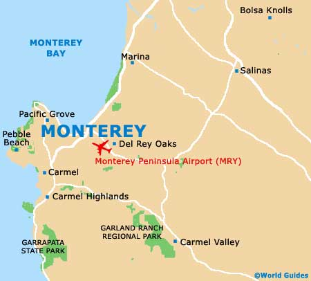 Monterey Maps and Orientation Monterey California CA USA