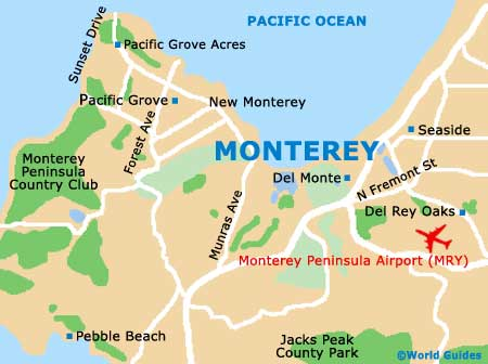 Monterey Travel Guide And Tourist Information Monterey - Monterey on us map