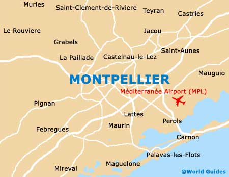 Small Montpellier Map