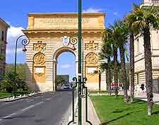 Image of Montpellier's Arc de Triomphe