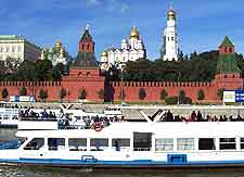 During good weather tourists enjoy river cruises
