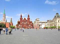 Picture showing a view of Red Square (Krasnaia Ploshchad)
