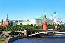 Scene of the River Moscow (Moskva River) which divides the city's districts