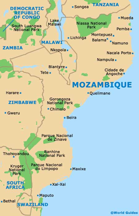 Small Mozambique Map