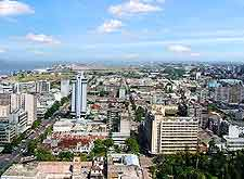 Aerial view across the Mozambique capital of Maupto