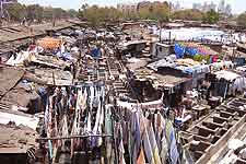 Picture showing Mahalaxmi Dhobi Ghat (Washing Place)