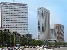Photo of hotels and apartments along Marine Drive