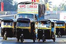 Image showing popular auto rickshaws