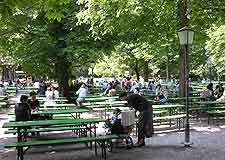 Further photo showing the city's English Garden