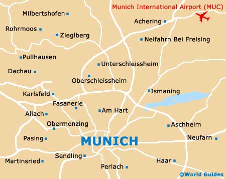 Map Of Munich Airport MUC Orientation And Maps For MUC Munich - Germany map airports