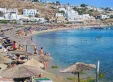Photo of beachfront on the Greek island of Mykonos