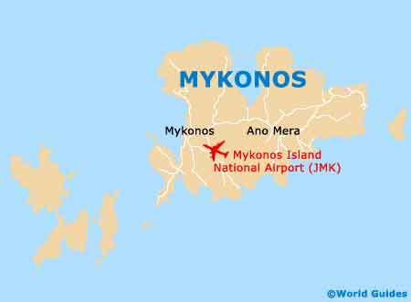 Small Mykonos Map