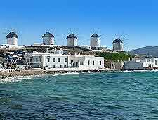 Picture showing the Mykonos windmills